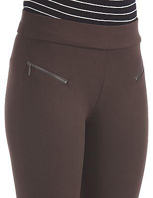 Elle Studio Elasticized Waist Solid Pants
