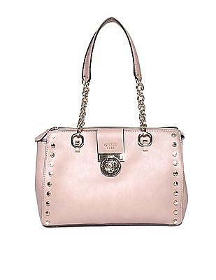 GUESS Linked Chain Metallic Accent Hand Bag
