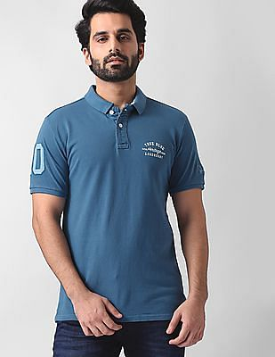 True Blue Slim Fit Pique Polo Shirt