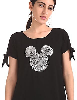 SUGR Mickey Mouse Sequinned A-Line Dress