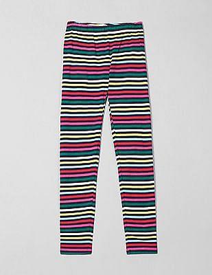 GAP Girls Stretch Jersey Striped Leggings