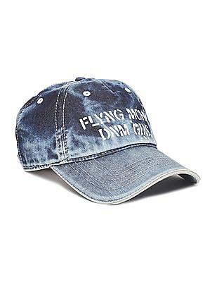 Flying Machine Appliqued Denim Cap
