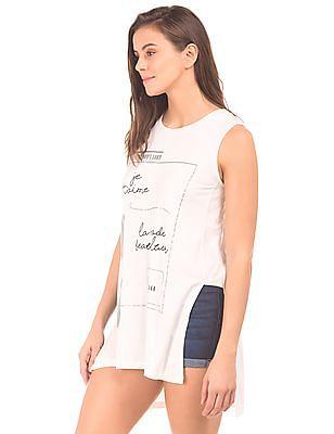 Elle High Low Hem Printed Tunic