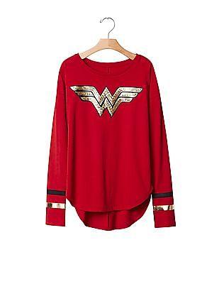 GAP Girls Wonder Woman High Low Tee