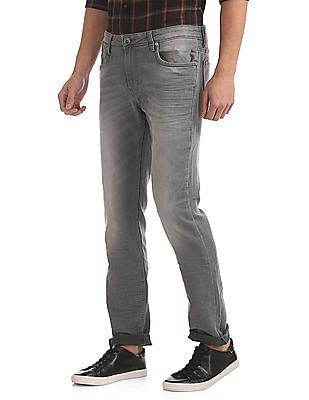 Ed Hardy Slim Fit Mid Rise Jeans
