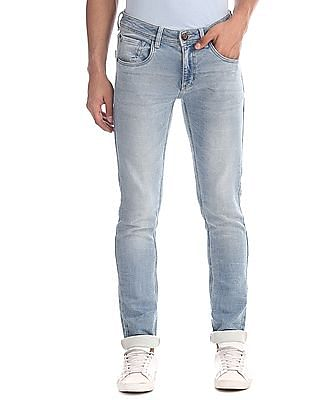 Cherokee Blue Skinny Fit Whiskered Jeans
