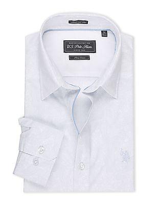 USPA Tailored Regular Fit Paisley Print Shirt