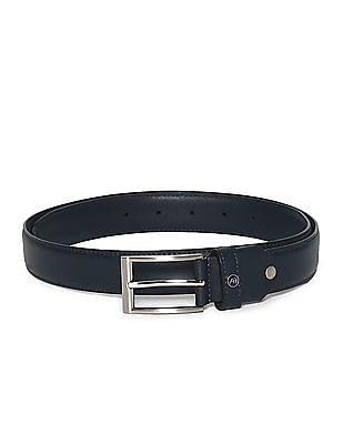 Arrow Sports Blue Solid Leather Belt