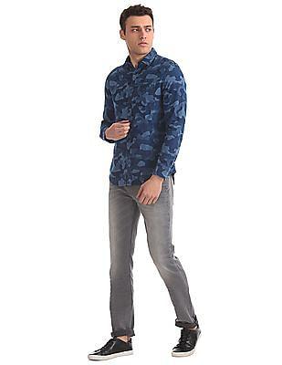 Ed Hardy Slim Fit Camo Print Shirt