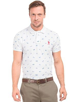 U.S. Polo Assn. Slim Fit Printed Polo Shirt