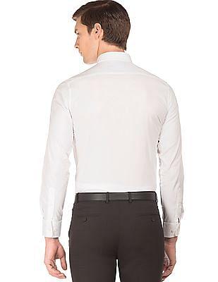 USPA Tailored Cutaway Collar French Placket Shirt