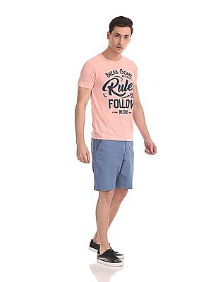 Flying Machine Super Slim Fit Woven Shorts