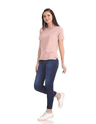 U.S. Polo Assn. Women Regular Fit Printed T-Shirt