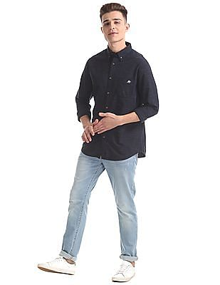 Aeropostale Regular Fit Patterned Shirt