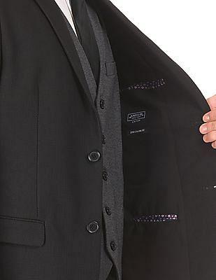 Arrow Newyork Textured Three Piece Suit
