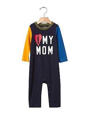 GAP Baby Blue Family Love Colour Block One Piece