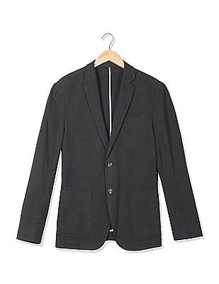 U.S. Polo Assn. Single Breasted Patterned Weave Blazer