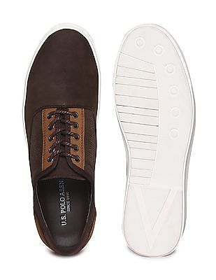 U.S. Polo Assn. Contrast Sole Panelled Sneakers