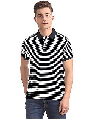 Izod Short Sleeves Striped Polo Shirt