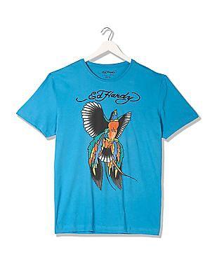 Ed Hardy Printed Round Neck T-Shirt