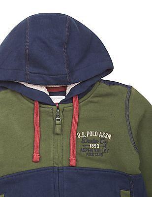 U.S. Polo Assn. Kids Boys Panelled Regular Fit Sweatshirt