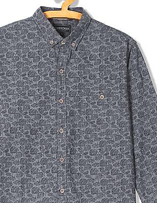 Cherokee Button Down Printed Shirt