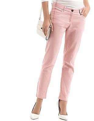 Arrow Woman Slim Fit Zip Hem Pants
