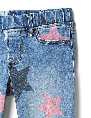 GAP Girls Star Print Jeggings in High Stretch