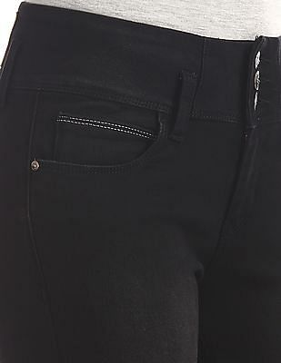 Cherokee Black High Rise Ankle Length Jeans