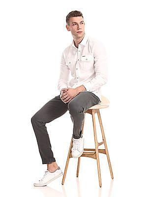 U.S. Polo Assn. Denim Co. Slim Fit Solid Shirt