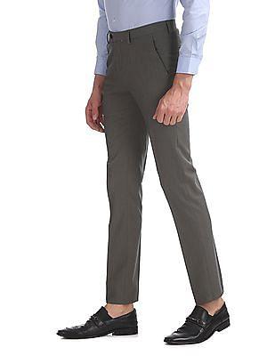 Arrow Newyork Slim Fit Patterned Weave Trousers
