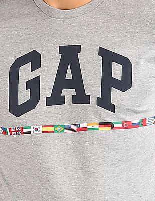 GAP Logo Flag Graphic Short Sleeve Crewneck T-Shirt