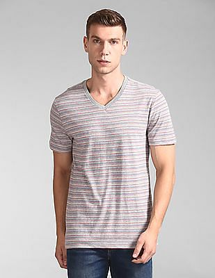 GAP V-Neck Striped T-Shirt