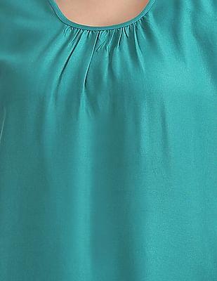Bronz Printed Sleeveless Tunic