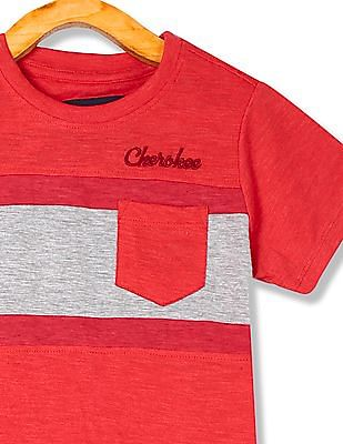 Cherokee Boys Crew Neck Striped T-Shirt