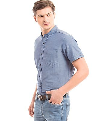 Nautica Regular Fit Mandarin Collar Shirt