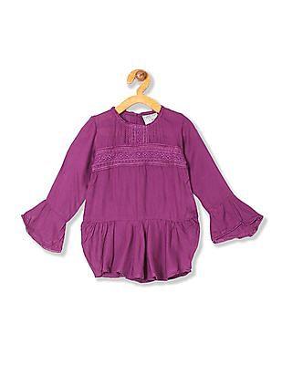 Cherokee Girls Lace Trim Bell Sleeve Tunic