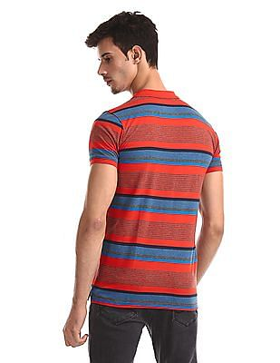 Ruggers Red Striped Jersey Polo Shirt