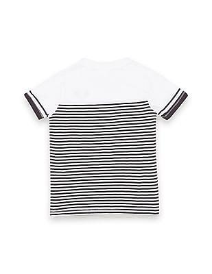 FM Boys Boys Striped Slim Fit T-Shirt