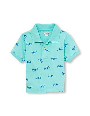The Children's Place Toddler Boy Short Sleeve Printed Knit Polo