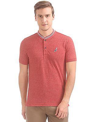 Nautica Slim Fit Tipped Henley T-Shirt