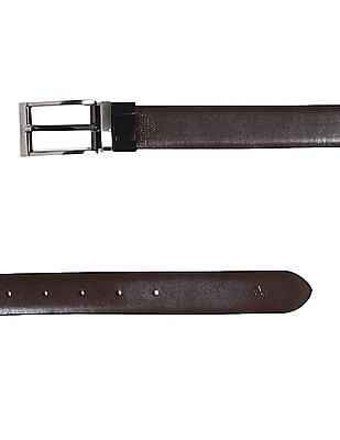 Arrow Brown And Black Reversible Solid Leather Belt