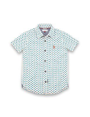 U.S. Polo Assn. Kids Boys Regular Fit Printed Shirt