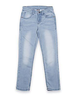 FM Boys Boys Skinny Fit Stone Wash Jeans