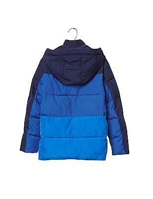 GAP Boys Blue ColdControl Max Colour Block Puffer Jacket