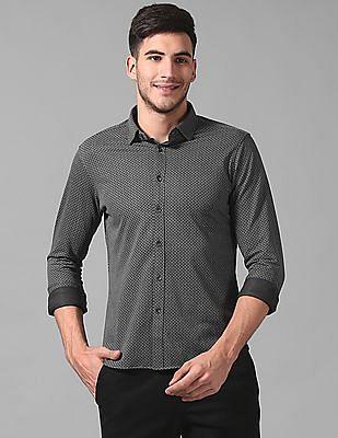 True Blue Slim Fit Floral Print Shirt