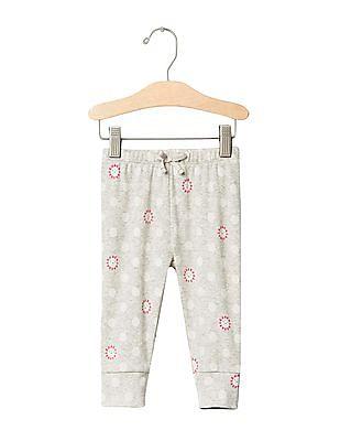 GAP Baby Grey Print Banded Pants
