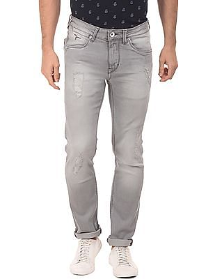 Flying Machine Distressed Skinny Jeans