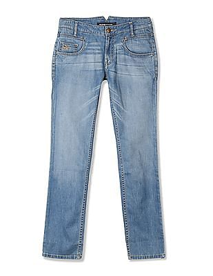Flying Machine Skinny Fit Washed Jeans