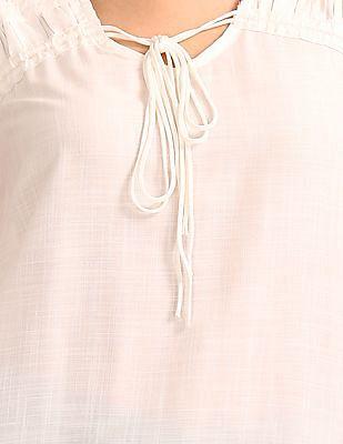 Cherokee Tie Up Front Flared Top